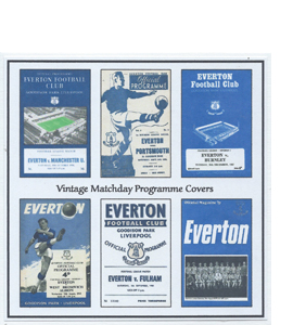 Everton Vintage Programme (Greeting Card)