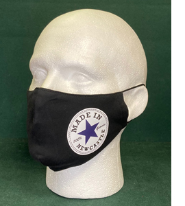 Exclusive Made In Newcastle, Black Version (Face Mask)
