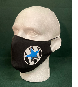 Exclusive Newcastle United Retro Blue Star (Face Mask)