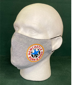 Exclusive Newcastle Blue Star Born & Bred, Grey (Face Mask)