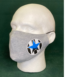 Exclusive Newcastle United Retro Blue Star, Grey (Face Mask)
