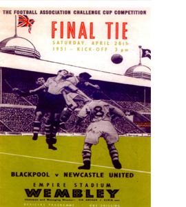 1951 FA Cup Final Newcastle Utd v Blackpool (Postcard)