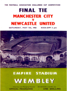 1955 FA Cup Final Newcastle United v Man City (Postcard)