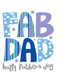 Fab Dad Happy Fathers Day (Greetings Card)
