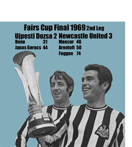 Fairs Cup Final 1969 2nd Leg, Newcastle United (Greeting Card)