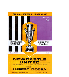Fairs Cup Final 1969 Programme  (Greetings Card)