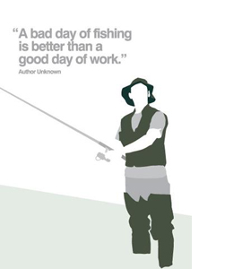 Fishing (Greetings Card)