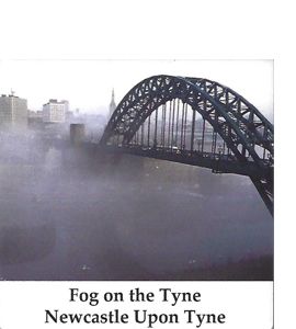 Fog On The Tyne, Tyne Bridge Newcastle (Ceramic Coaster)