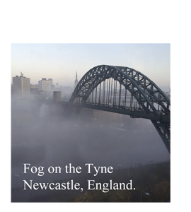 Fog On the Tyne Newcastle, England (Greetings Card)