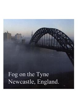 Fog on the Tyne (Greeting Card)