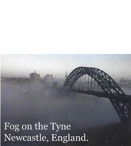 Fog on the Tyne, Tyne Bridge (Postcard)