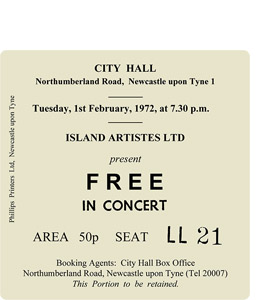 Free City Hall Ticket (Coaster)