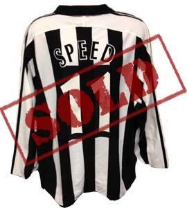 Gary Speed Newcastle United Home Shirt  (Match-Worn)
