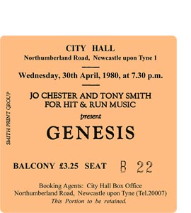 Genesis City Hall Ticket (Coaster)