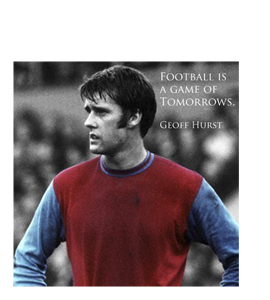 Geoff Hurst - Football is a Game Of Tomorrows (Greetings Card)
