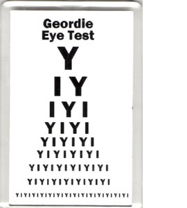 Geordie Eye Test (Fridge Magnet)