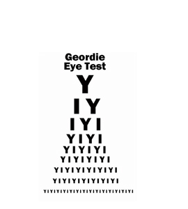Geordie Eye Test (Greetings Card)