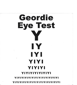Geordie Eye Test (Ceramic Coaster)