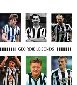 Geordie Legends Newcastle United (Greeting Card)