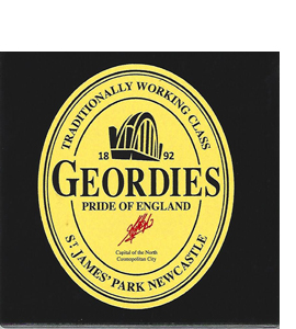 Geordies Beer Bottle (Ceramic Coaster)