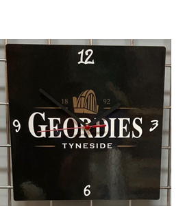 Geordies Tyneside Guiness Style Hand Made Wooden Wall Clock