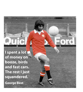 George Best Quote (Greeting Card)