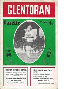 Glentoran v Linfield 71/72 (Programme)