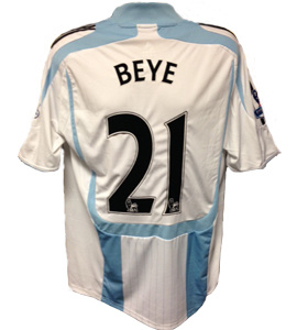 Habib Beye Newcastle United Shirt 2007/08 (Match-Worn)