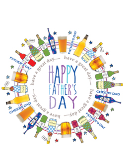 Happy Fathers Day (Greetings Card)