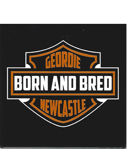 Harley Geordie Born & Bred (Ceramic Coaster)