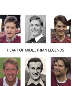 Heart Of Midlothian Legends (Greetings Card)
