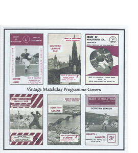 Hearts Vintage Programme (Greeting Card)