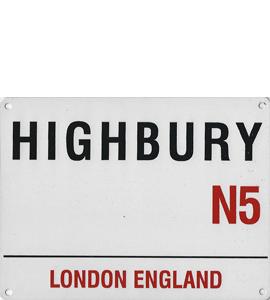 Highbury N5 (Metal Sign)