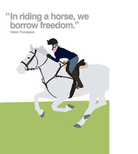 Horse Riding (Greetings Card)