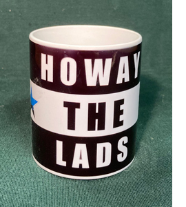 Howay The Lads Blue Star Newcastle (Mug)
