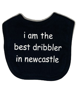 I Am The Best Dribbler In Newcastle, Bib (Babywear)