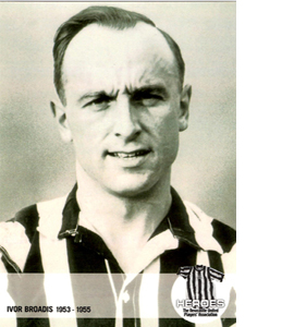 Ivor Broadis Newcastle United Heroes (Postcard)