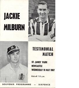 Jackie Milburn Newcastle United Testimonial (Programme)