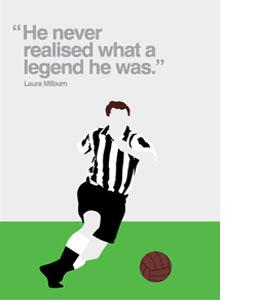 Jackie Milburn Newcastle United Legend (Greeting Card)