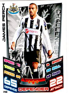 James Perch Newcastle United Match Attax Trade Card (Signed)