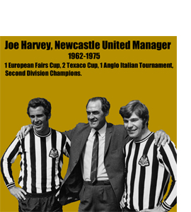 Joe Harvey, Newcastle United Manager 1962-1975 (Greetings Card)