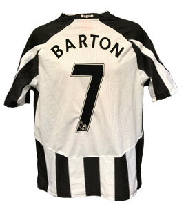 Joey Barton Newcastle United Shirt 2010/11 (Match-Worn)