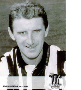 John Anderson Newcastle United Heroes (Postcard)