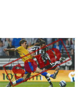 Jonás Gutiérrez Newcastle Photo (Signed)