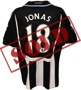 Jonas Gutierrez Newcastle United Shirt  (Match Worn)
