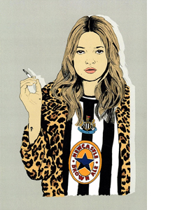 Kate Moss Newcastle (Greetings Card)