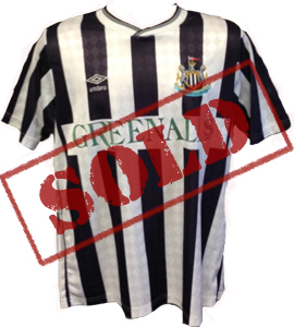 Kevin Brock Newcastle United Shirt 1988/89 (Match-Worn)