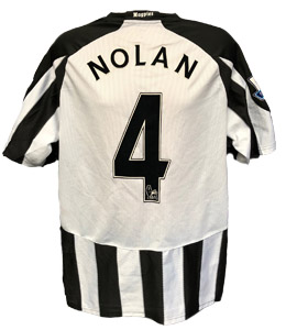 Kevin Nolan Newcastle United Shirt 2010/11 (Match-Worn)