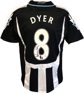 Kieron Dyer Newcastle United Shirt 2007/08 (Match - Worn)