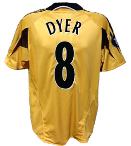 Kieron Dyer Newcastle United Shirt 2004/05 (Match-Worn)